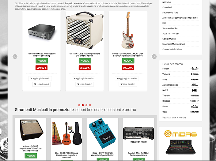 E-commerce - Emporio Musicale